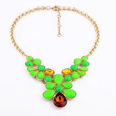 Γυναικεία Σκέλη Κολιέ Κρυστάλλινο Euramerican Μοντέρνα Λατρευτός Εξατομικευόμενο χαριτωμένο στυλ Πράσινο Ανοικτό Κοσμήματα Για Γάμου Πάρτι