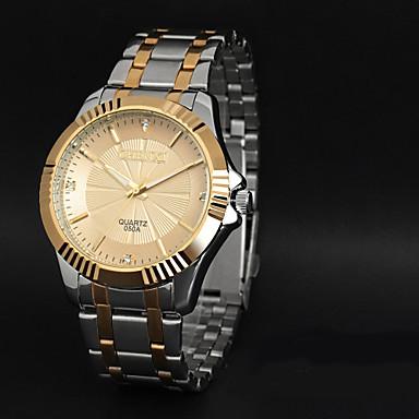 Homens Relógio de Pulso Relógio Casual Aço Inoxidável Banda Amuleto Preta