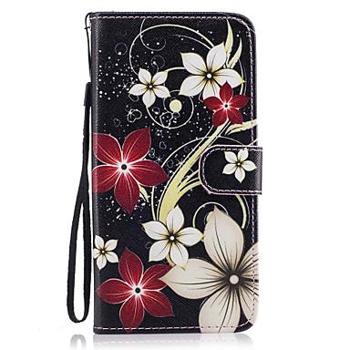 Kılıf Na Samsung Galaxy S8 Plus S8 Etui na karty Portfel Z podpórką Flip Magnetyczne Wzór Pełne etui Kwiaty Twarde Skóra PU na S8 Plus S8