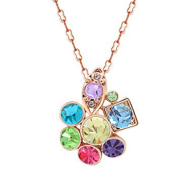 Kadın's Uçlu Kolyeler Kristal Kişiselleştirilmiş Moda sevimli Stil Euramerican Mücevher Uyumluluk Düğün Parti