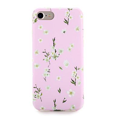 Için Kılıflar Kapaklar Temalı Arka Kılıf Pouzdro Çiçek Yumuşak TPU için AppleiPhone 7 Plus iPhone 7 iPhone 6s Plus iPhone 6 Plus iPhone