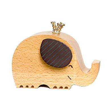 Cutie muzicală Elefant Jucării Novelty Lemn Unisex