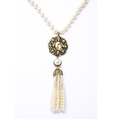 Damskie Naszyjniki z wisiorkami Geometric Shape Unikalny Frędzle White Biżuteria Na Codzienny 1szt