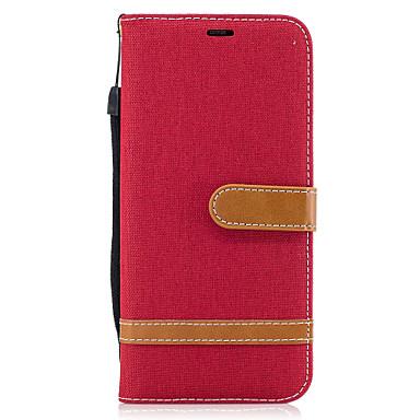 hoesje Voor Samsung Galaxy S8 Plus S8 Kaarthouder Portemonnee met standaard Flip Magnetisch Volledige behuizing Effen Kleur Hard PU-leer