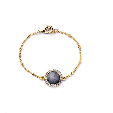Γυναικεία Βραχιόλια με Αλυσίδα & Κούμπωμα Κοσμήματα Φιλία Μοντέρνα Κράμα Round Shape Κοσμήματα Για Γάμου 1pc