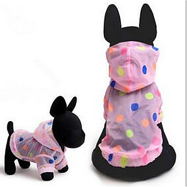 Câine Haine Tricou Îmbrăcăminte Câini Draguț Modă Sport Buline Verde Roz Costume Pentru animale de companie