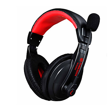 Casti de jocuri 3.5mm casti stereo cu casti stereo cu microfon de anulare a zgomotului skype pentru pc laptop gamer