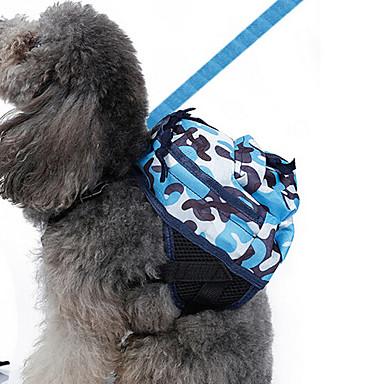 كلب حقيبة ظهر ملابس الكلاب تمويه أزرق قماش أكسفورد كوستيوم للحيوانات الأليفة للرجال للمرأة كلاسيكي جميل كاجوال/يومي عطلة عيد ميلاد قابل