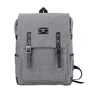 15.6 inç ultra hafif taşınabilir bilgisayar sırt çantası Kore tarzı omuz çantası su geçirmez saf renk unisex