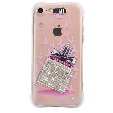 Pentru Apple iPhone 7 7 plus 6s 6 plus caz acoperă parfum sticla model picătură de diamant vine cu apel de trupa de telefon tpu caz