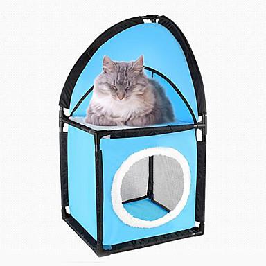 Katze Betten Haustiere Matten & Polster Solide Atmungsaktiv Klappbar Blau