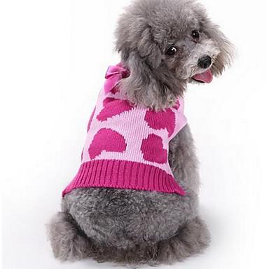 Pies Swetry Ubrania dla psów Codzienne Modny Rysunek Fuchsia