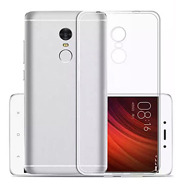 Kılıf Na Xiaomi Ultra cienkie Przezroczyste Czarne etui Solid Color Miękkie TPU na Xiaomi Redmi Note 4X