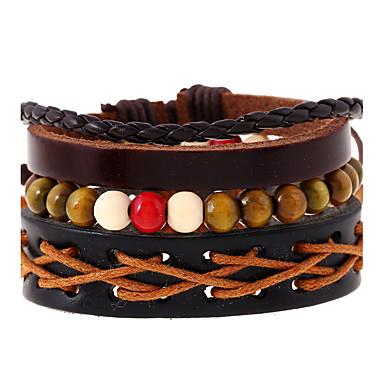 Heren Dames Lederen armbanden Modieus Leder Geometrische vorm Sieraden Bruiloft Feest Sport