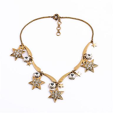 Damskie Pasemka Naszyjniki Star Shape Unikalny Osobiste Gold Biżuteria Na Casual 1szt