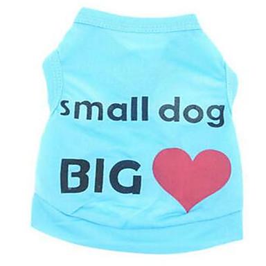كلب سترة ملابس الكلاب كاجوال/يومي حرف وعدد أزرق زهري كوستيوم للحيوانات الأليفة