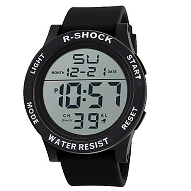 رجالي ساعة رياضية ساعة رقمية رقمي سيليكون أسود 30 m عرض ساخن رقمي سحر - أبيض أسود أزرق
