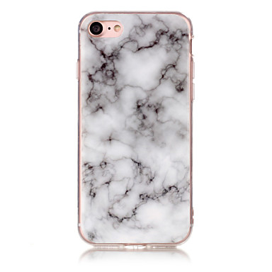 hoesje Voor Apple iPhone X iPhone 8 IMD Achterkant Marmer Zacht TPU voor iPhone X iPhone 8 Plus iPhone 8 iPhone 7 Plus iPhone 7 iPhone 6s