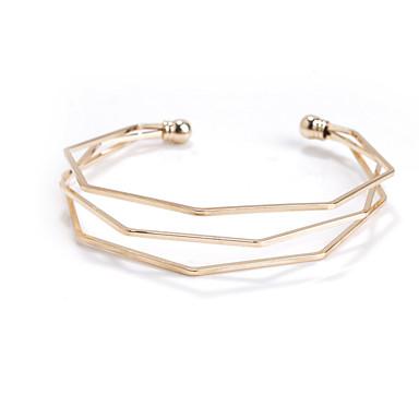 Γυναικεία Χειροπέδες Βραχιόλια Κοσμήματα Μοντέρνα Χαλκός Geometric Shape Χρυσό Μαύρο Ασημί Κοσμήματα Για Αθλητικά 1pc