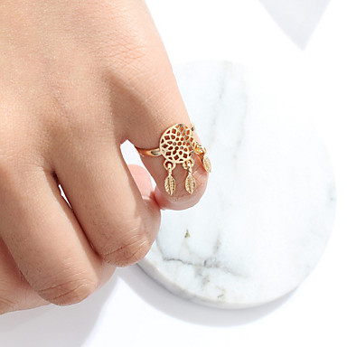 Women's Ring Jewelry Unique Design Alloy Leaf Jewelry For Party Special Occasion Anniversary Birthday Congratulations Graduation Thank