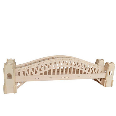 puzzle-uri Puzzle 3D Blocuri de pereti DIY Jucarii Lemn Jucărie de Construit & Model