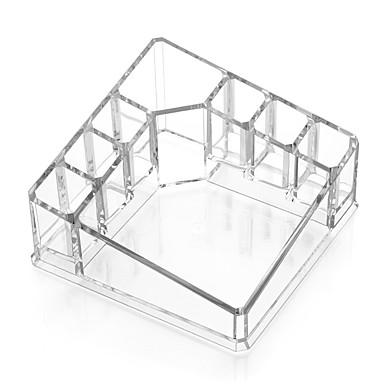 Acryl transparante vierkante cosmetica make-up stand stand borstel pot organisator voor lippenstift nagellak