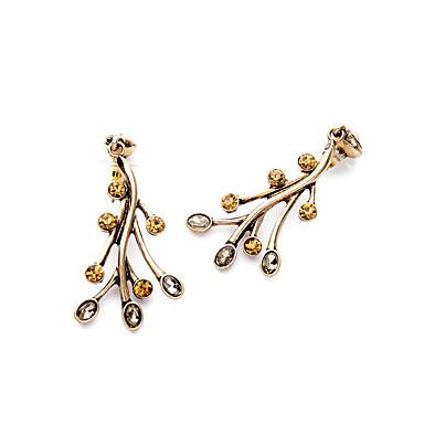 Cercei Rotunzi Cristal Adorabil Personalizat Cute Stil Euramerican Auriu Bijuterii Pentru Nuntă Petrecere Zi de Naștere 1 pereche