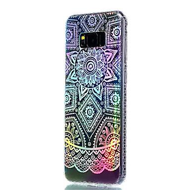 غطاء من أجل Samsung Galaxy S8 Plus S8 تصفيح شبه شفّاف نموذج غطاء خلفي زهور ناعم TPU إلى S8 Plus S8 S7 edge S7