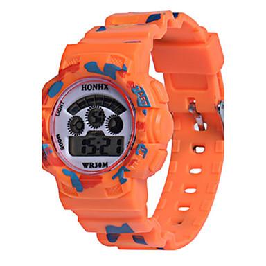 9eb3b9ebde6 Dámské Dětské Sportovní hodinky Digitální hodinky čínština Digitální Silikon  Kapela Orange Zelená žlutá