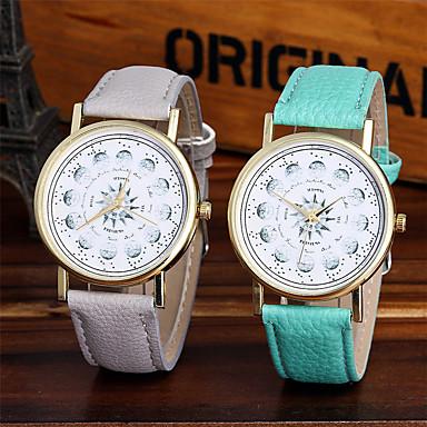 Dames Modieus horloge Polshorloge Unieke creatieve horloge Vrijetijdshorloge Chinees Kwarts / Kleurrijk Leer Band Glitter Informeel Cool