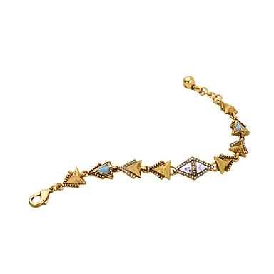 Damskie Bransoletki i łańcuszki na rękę Biżuteria Przyjaźń luksusowa biżuteria Stop Triangle Shape Gold Biżuteria Na Impreza Urodziny 1szt