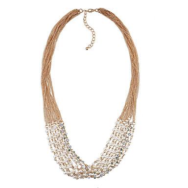 Damskie Warstwy Naszyjniki Imitacja pereł Osobiste euroamerykańskiej minimalistyczny styl biżuteria kostiumowa Biżuteria Na Ślub Impreza