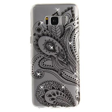 Hülle Für Samsung Galaxy S8 Plus S8 Strass IMD Transparent Rückseitenabdeckung Blume Weich TPU für S8 S8 Plus S7 edge S7