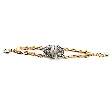 Kadın's Zincir & Halka Bileklikler Mücevher Arkadaşlık lüks mücevher alaşım Geometric Shape Altın Mücevher Için Parti Doğumgünü 1pc
