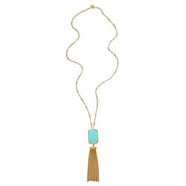 Pentru femei Coliere cu Pandativ Geometric Shape Design Unic Franjuri Albastru Deschis Bijuterii Pentru Zilnic 1 buc