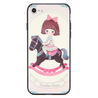 Varten kotelot kuoret Kuvio Takakuori Etui Piirros Kova PC varten AppleiPhone 7 Plus iPhone 7 iPhone 6s Plus iPhone 6 Plus iPhone 6s