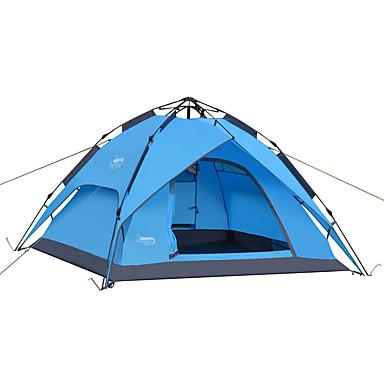DesertFox® 3-4 Persoons Tent Dubbel Kampeer tent Eèn Kamer Automatische Tent waterdicht Regenbestendig voor Kamperen 2000-3000 mm Oxford