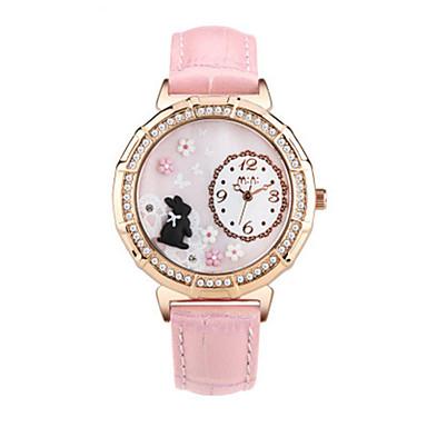 Dames Modieus horloge Kwarts / Leer Band Vrijetijdsschoenen Blauw Rood Roze