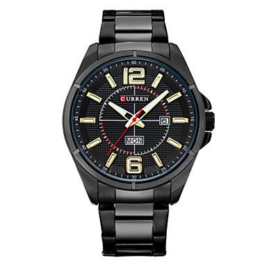 Heren Modieus horloge Kwarts Legering Band Zwart