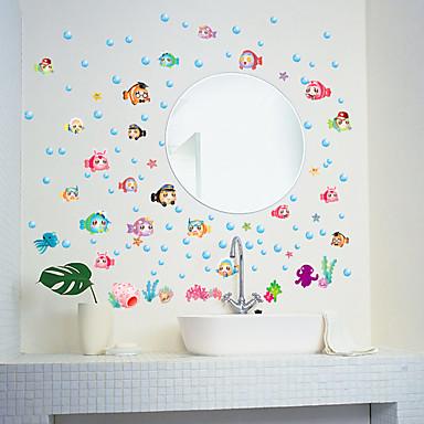 Dieren Mode Cartoon Muurstickers Vliegtuig Muurstickers Decoratieve Muurstickers, Papier Huisdecoratie Muursticker Wand Glas / Badkamer