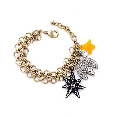 Γυναικεία Βραχιόλια με Φυλαχτά Φιλία Μοντέρνα Κράμα Star Shape Κρεμαστό MOON Κοσμήματα Για 1pc
