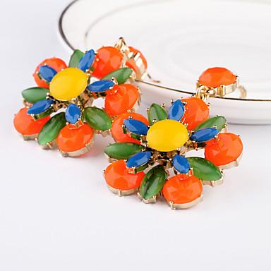 Κρίκοι Μοναδικό Μοντέρνα Flower Shape Ουράνιο Τόξο Κοσμήματα Για Καθημερινά Causal 1 ζευγάρι