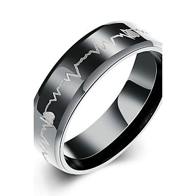 Γυναικεία Τιτάνιο Ατσάλι Band Ring - Κυκλικό Νυφικό / Μοντέρνα / μινιμαλιστικό στυλ Μαύρο Δαχτυλίδι Για Χριστουγεννιάτικα δώρα / Γάμου /
