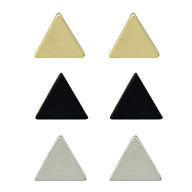 للمرأة أقراط الزر سبيكة مثلث تصميم فريد أساسي حزب يوميا فضفاض أقراط مجوهرات