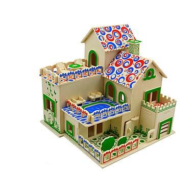 بانوراما الألغاز قطع تركيب3D اللبنات DIY اللعب خشب ألعاب البناء و التركيب