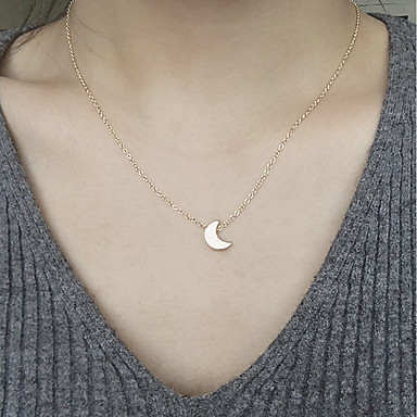 Жен. MOON Ожерелья с подвесками - Мода MOON Золотой Серебряный Ожерелье Назначение Повседневные