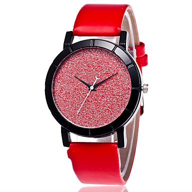 Dames Modieus horloge Chinees Kwarts PU Band Informeel Zwart Wit Blauw Rood Roze