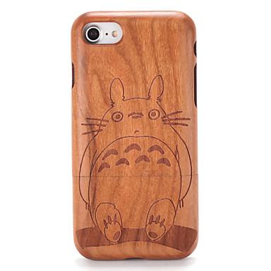 Pentru Carcase Huse Embosat Model Carcasă Spate Maska Rumegus Desen animat Greu Lemn pentru AppleiPhone 7 Plus iPhone 7 iPhone 6s Plus