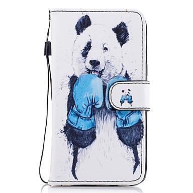 غطاء من أجل Samsung Galaxy A5(2017) A3(2017) حامل البطاقات محفظة مع حامل قلب مغناطيس نموذج غطاء كامل للجسم حيوان قاسي جلد PU إلى A3