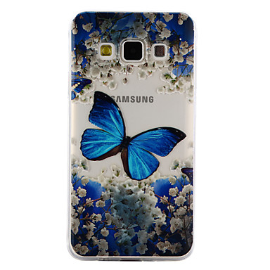 hoesje Voor Samsung Galaxy A5(2017) A3(2017) Transparant Reliëfopdruk Patroon Achterkantje Vlinder Zacht TPU voor A3 (2017) A5 (2017) A5